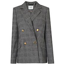 Buy L.K. Bennett Medine Wool Blend Double Breasted Jacket, Check Online at johnlewis.com
