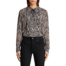 Buy AllSaints Cada Zebra Print Shirt, Multi Online at johnlewis.com