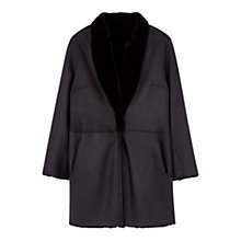 Buy Gerard Darel Galina Sheepskin Coat, Black Online at johnlewis.com