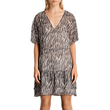 Buy AllSaints Marley Silk Zebra Dress, Multi Online at johnlewis.com