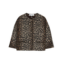Buy Gerard Darel Opera Leopard Print Jacket, Camel Online at johnlewis.com