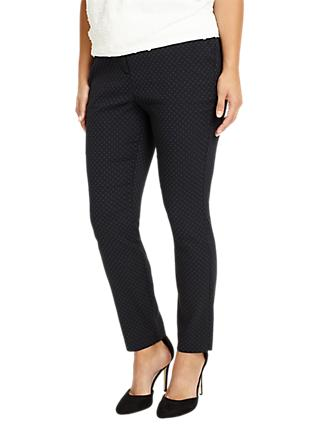 Studio 8 Freddie Pattern Trousers, Black