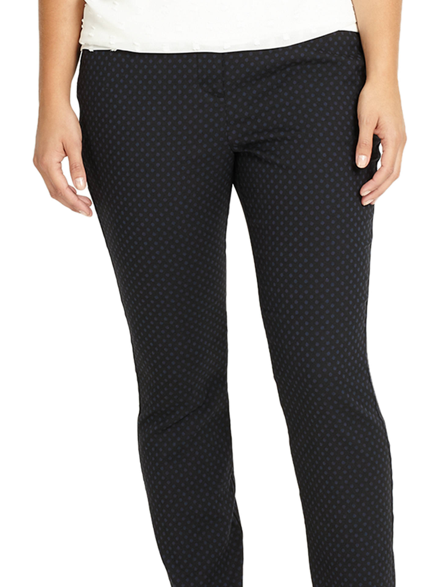 Buy Studio 8 Freddie Pattern Trousers, Black, 12 Online at johnlewis.com