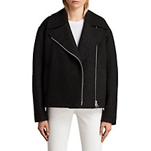 Buy AllSaints Remi Jacket, Black Online at johnlewis.com