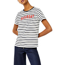 Buy Warehouse Saturday Striped T-Shirt, Blue Online at johnlewis.com