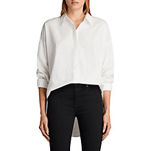 Buy AllSaints Sada Shirt, Chalk White Online at johnlewis.com