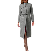 Buy L.K. Bennett Delli Coat, Black/White Online at johnlewis.com