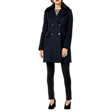 Buy Warehouse Double Breasted Faux Fur Coat Online at johnlewis.com