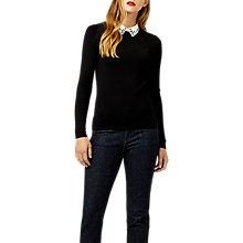 Buy Warehouse Long Sleeve Embellished Collar Jumper Online at johnlewis.com