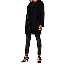 Buy Mint Velvet Boucle Long Sleeve Coat, Dark Blue Ink Online at johnlewis.com