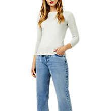 Buy Warehouse Pretty Stitch Yoke Jumper, Light Grey Online at johnlewis.com