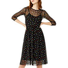 Buy Warehouse Rainbow Spotted Mesh Dress Online at johnlewis.com