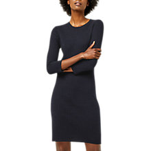 Buy Warehouse Bobble Stitch Knitted Dress, Navy Online at johnlewis.com