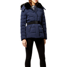 Buy Warehouse Belted Wadded Coat Online at johnlewis.com