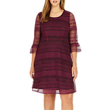 Buy Studio 8 Demelza Lace Dress, Purple Online at johnlewis.com
