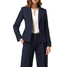 Buy L.K. Bennett Casia Single Breasted Wool Blend Jacket, Sloane Blue Online at johnlewis.com