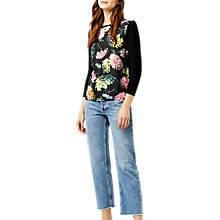 Buy Warehouse Decoupage Floral Woven Jumper, Multi Online at johnlewis.com