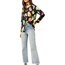 Buy Warehouse Decoupage Blouse, Black Online at johnlewis.com