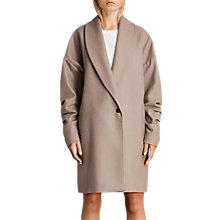 Buy AllSaints Kenzie Ruche Coat Online at johnlewis.com