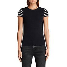 Buy AllSaints Anya Striped Top, Ink Blue Online at johnlewis.com