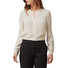Buy L.K. Bennett Riko Satin Crepe Blouse, Cream Online at johnlewis.com