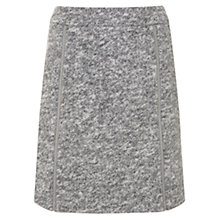 Buy Mint Velvet Textured Zip Detail Skirt, Light Grey Online at johnlewis.com