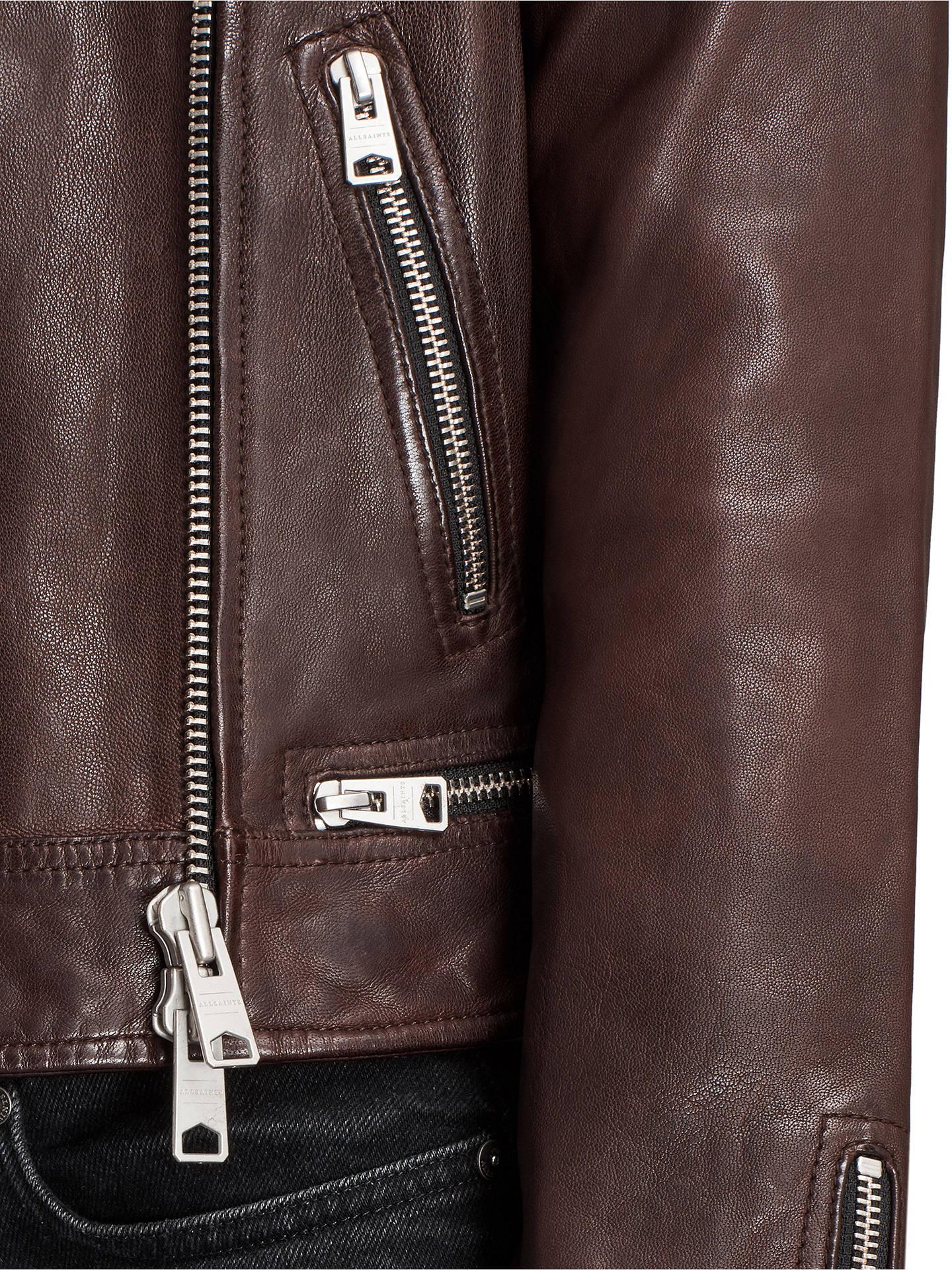Allsaints Conroy Leather Biker Jacket Oxblood Red At John Lewis