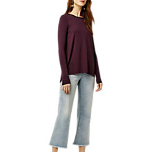 Buy Warehouse Pleat Back Top, Berry Online at johnlewis.com