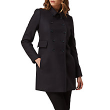Buy L.K. Bennett Felli Short Military Coat, Sloane Blue Online at johnlewis.com