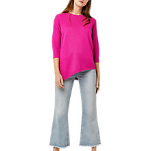 Buy Warehouse Asymmetric Textured Jumper, Bright Pink Online at johnlewis.com