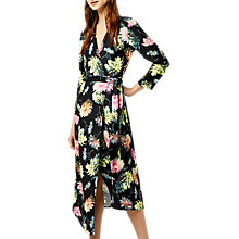 Buy Warehouse Decoupage Wrap Dress, Black/Multi Online at johnlewis.com