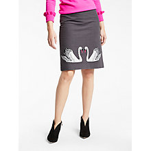 Buy Boden Fenella Embroidered Skirt, Pewter Online at johnlewis.com