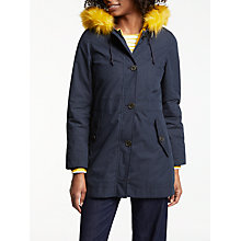 Buy Boden Ravenglass Parka, Navy Online at johnlewis.com