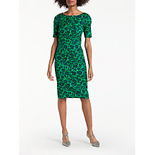 Buy Boden Fleur Fitted Dress, Pixie Green Shadow Floral Online at johnlewis.com