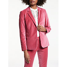Buy Boden Velvet Emilia Blazer, Rose Blossom Online at johnlewis.com