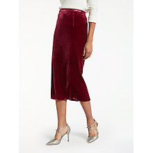 Buy Boden Lorna Velvet Pencil Skirt Online at johnlewis.com
