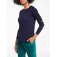 Buy Boden Susie Star Jumper, Navy Online at johnlewis.com