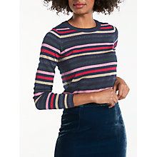 Buy Boden Renata Striped Jumper, Navy/Multi Online at johnlewis.com