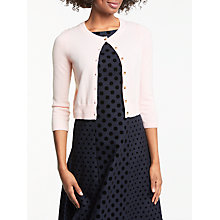 Buy Boden Cashmere Crop Crew Neck Cardigan Online at johnlewis.com