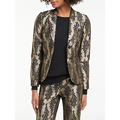 Product photo of Boden jacquard party blazer pewter black
