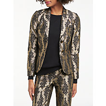Buy Boden Jacquard Party Blazer, Pewter/Black Online at johnlewis.com