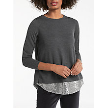 Buy Boden Lila Sequin Back Jumper, Charcoal/Silver Online at johnlewis.com