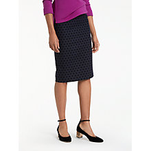 Buy Boden Freya Pencil Skirt, Navy/Black Online at johnlewis.com