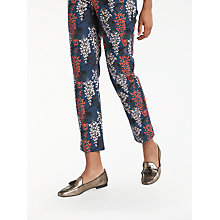 Buy Boden Printed Party Trousers, Ink Pot/Wisteria Online at johnlewis.com