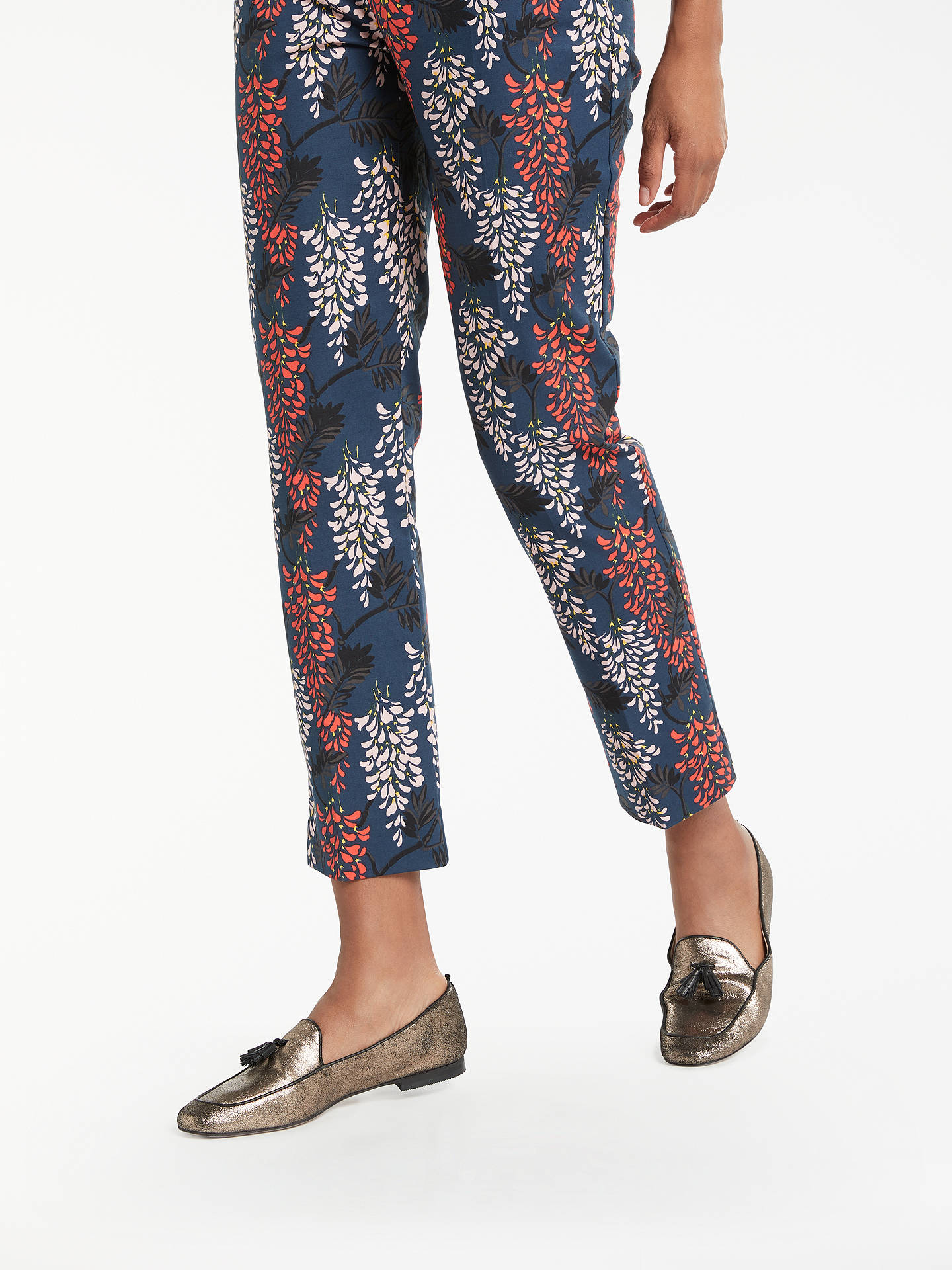 BuyBoden Printed Party Trousers, Ink Pot/Wisteria, 8 Online at johnlewis.com