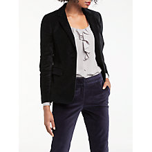 Buy Boden Velvet Emilia Blazer, Black Online at johnlewis.com