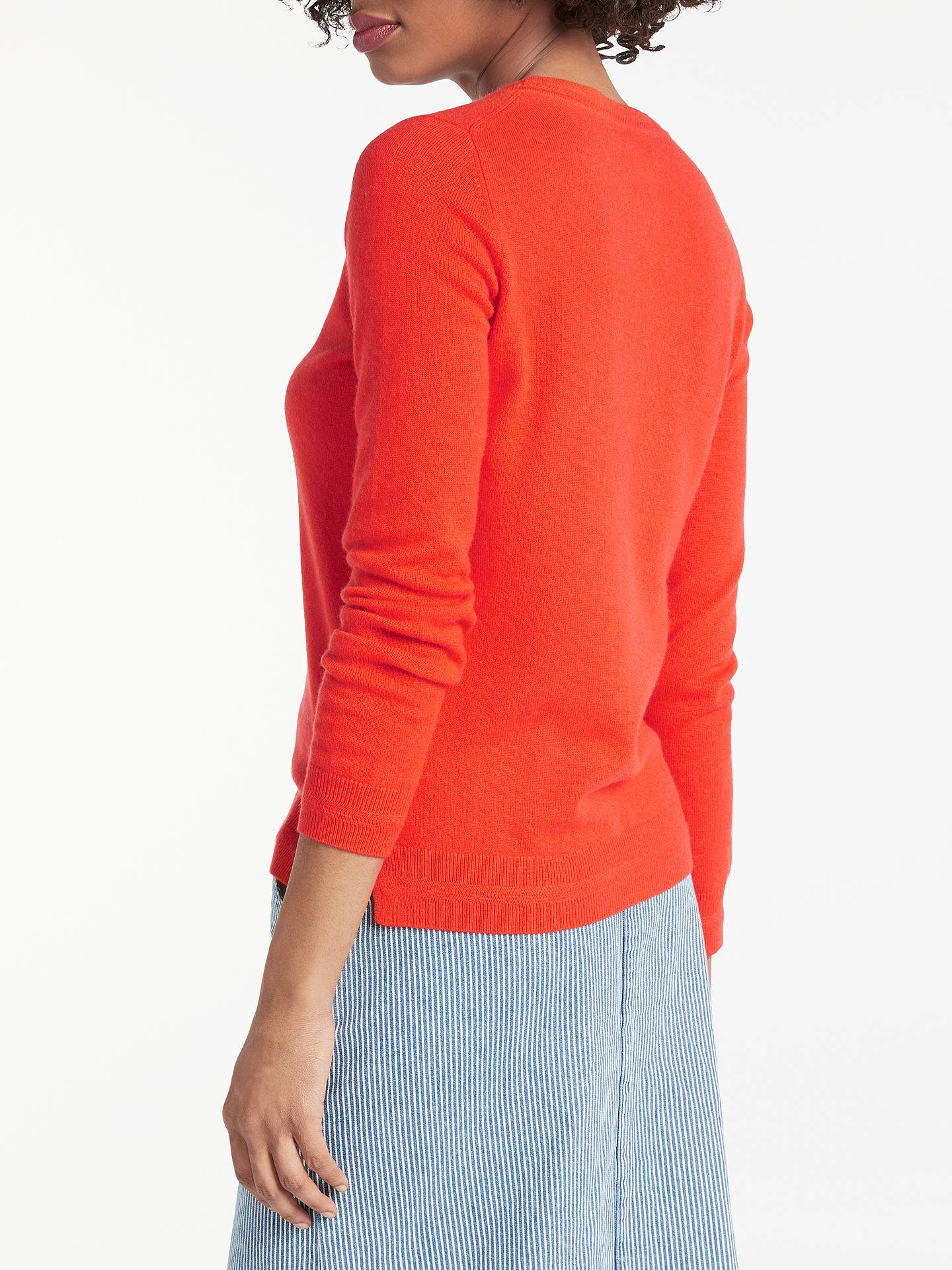 Buy Boden Cashmere Crew Neck Jumper, Red Pop, XS Online at johnlewis.com