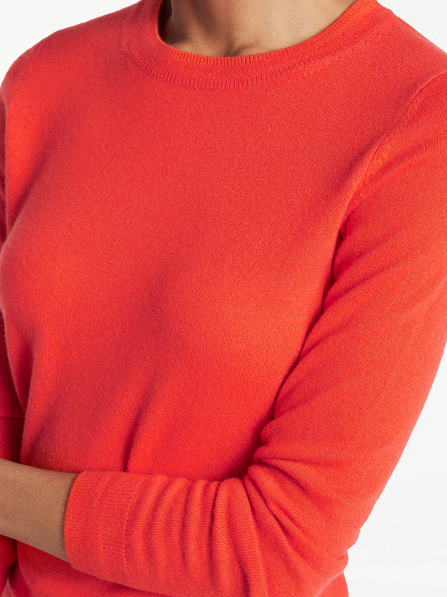 BuyBoden Cashmere Crew Neck Jumper, Red Pop, XS Online at johnlewis.com