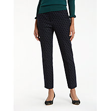 Buy Boden Mirabelle 7/8 Trousers, Navy Online at johnlewis.com