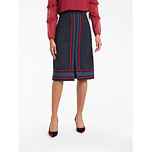 Buy Boden Edith Trim Detail Skirt, Navy Online at johnlewis.com